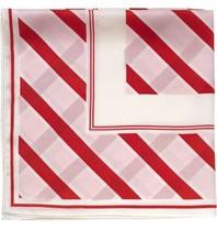 Notes Du Nord zijden sjaal met strepen strawberry
