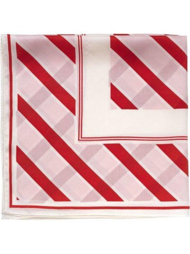 Notes Du Nord Notes Du Nord zijden sjaal met strepen strawberry