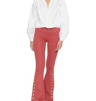 Godert.me blouse with puff sleeves and round collar white