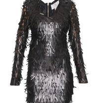 Forever Unique Razel jurk met applicaties zwart