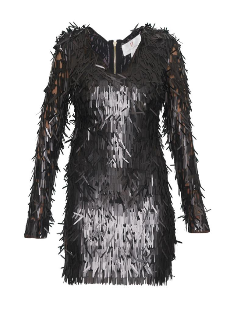 Forever Unique Razel Kleid mit Applikationen schwarz