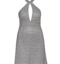 Forever Unique Nani bewerkte halter jurk zilver
