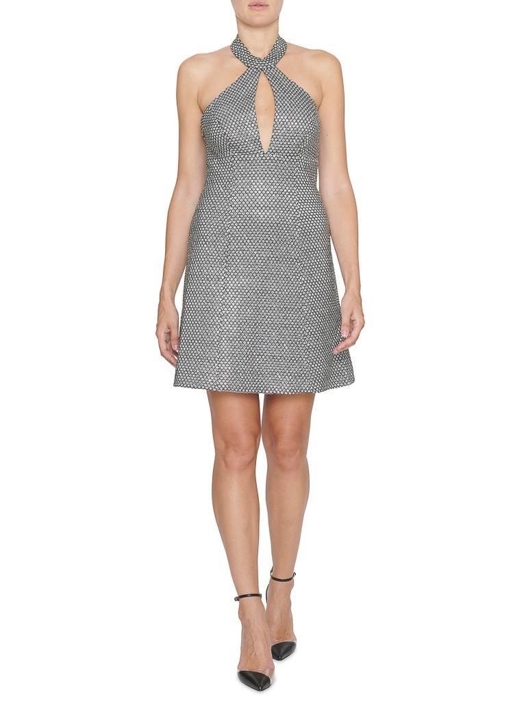 Forever Unique Forever Unique Nani bewerkte halter jurk zilver