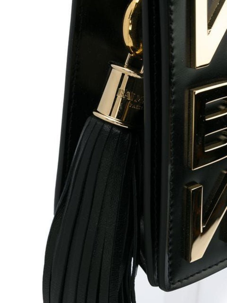 680ad5eabbd Balmain crossbody tas met gouden logo zwart - VLVT Amsterdam