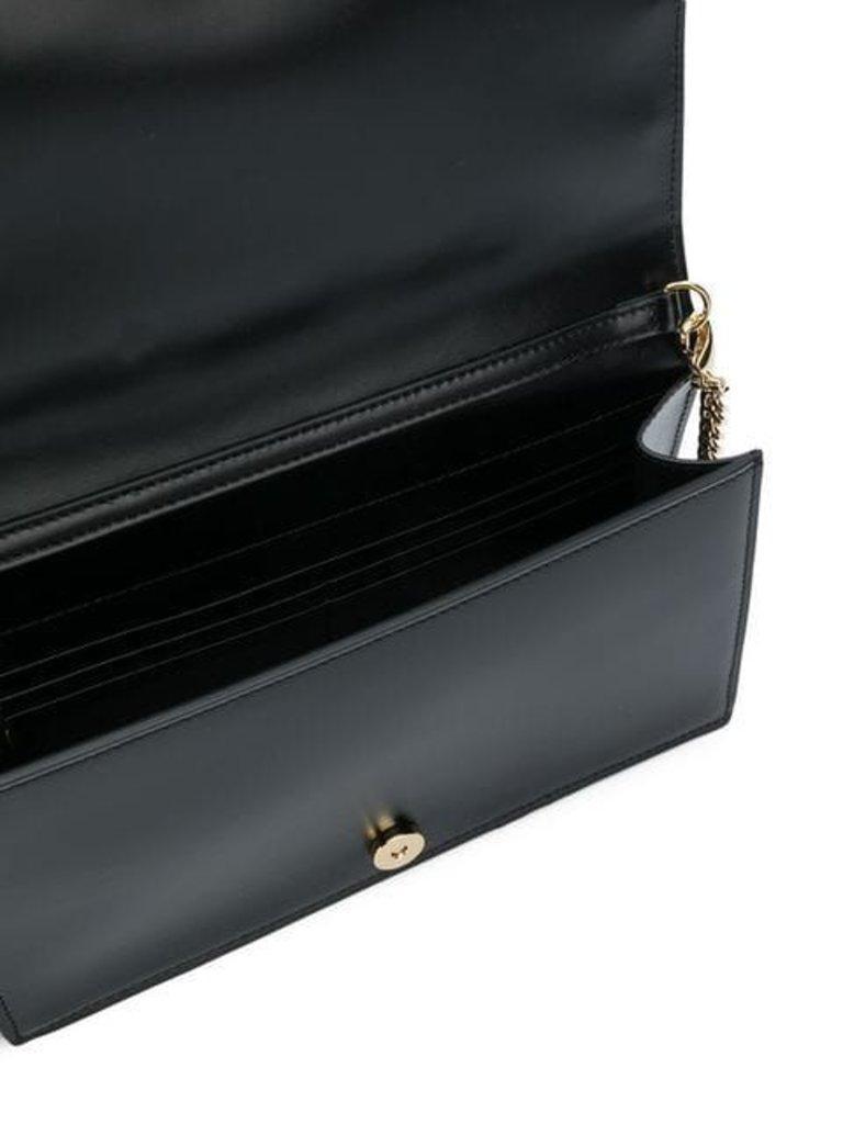 Balmain Umhängetasche mit goldenem Logo schwarz