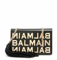 Balmain Balmain Umhängetasche mit goldenem Logo schwarz