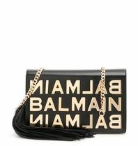 Balmain crossbody tas met gouden logo zwart