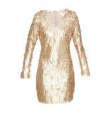 Forever Unique Forever Unique Razel jurk met applicaties goud