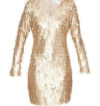 Forever Unique Forever Unique Razel dress with applications gold