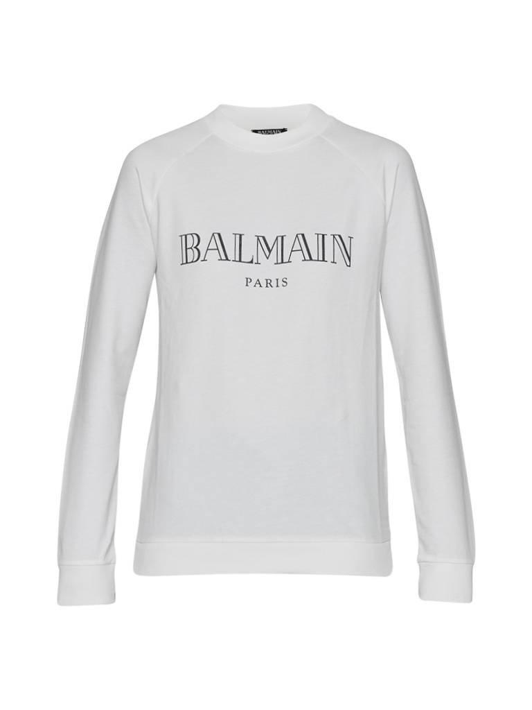 Balmain Sweater mit Logo weiß