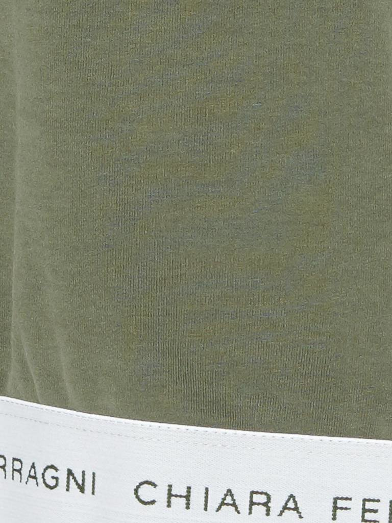 Chiara Ferragni Chiara Ferragni crop t-shirt groen