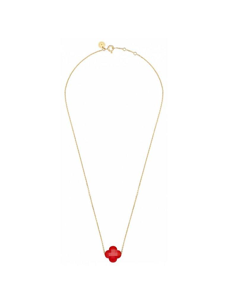 Morganne Bello Morganne Bello necklace with Cornaline stone red