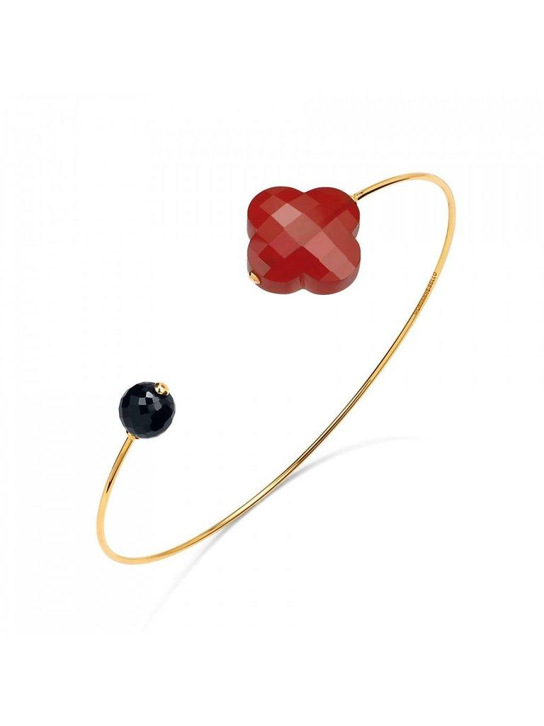 Morganne Bello Morganne Bello gouden armband Cornaline Spinelle