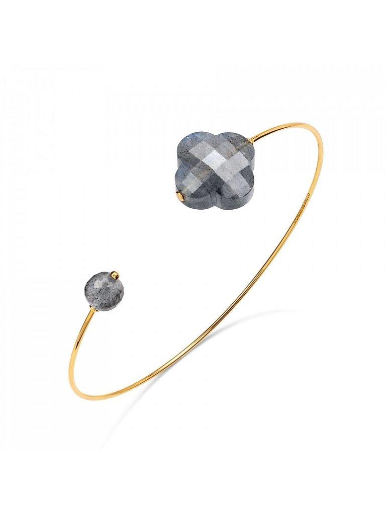 Morganne Bello Morganne Bello gouden armband met Labradorite steen