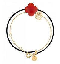 Morganne Bello gold bracelet Liane with Cornaline stone