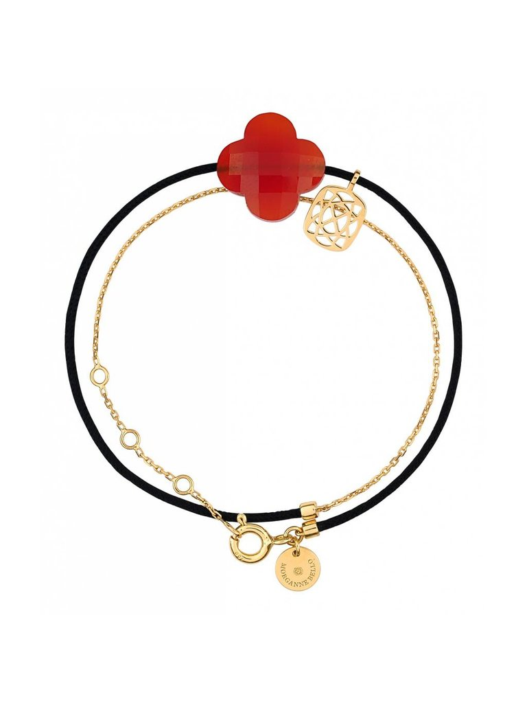 Morganne Bello Morganne Bello gold bracelet Liane with Cornaline stone