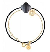 Morganne Bello gold bracelet Liane with Hematite stone