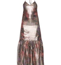 Valentine Gauthier Valentine Gauthier Castel Metallic Elma dress with lurex details multicolor