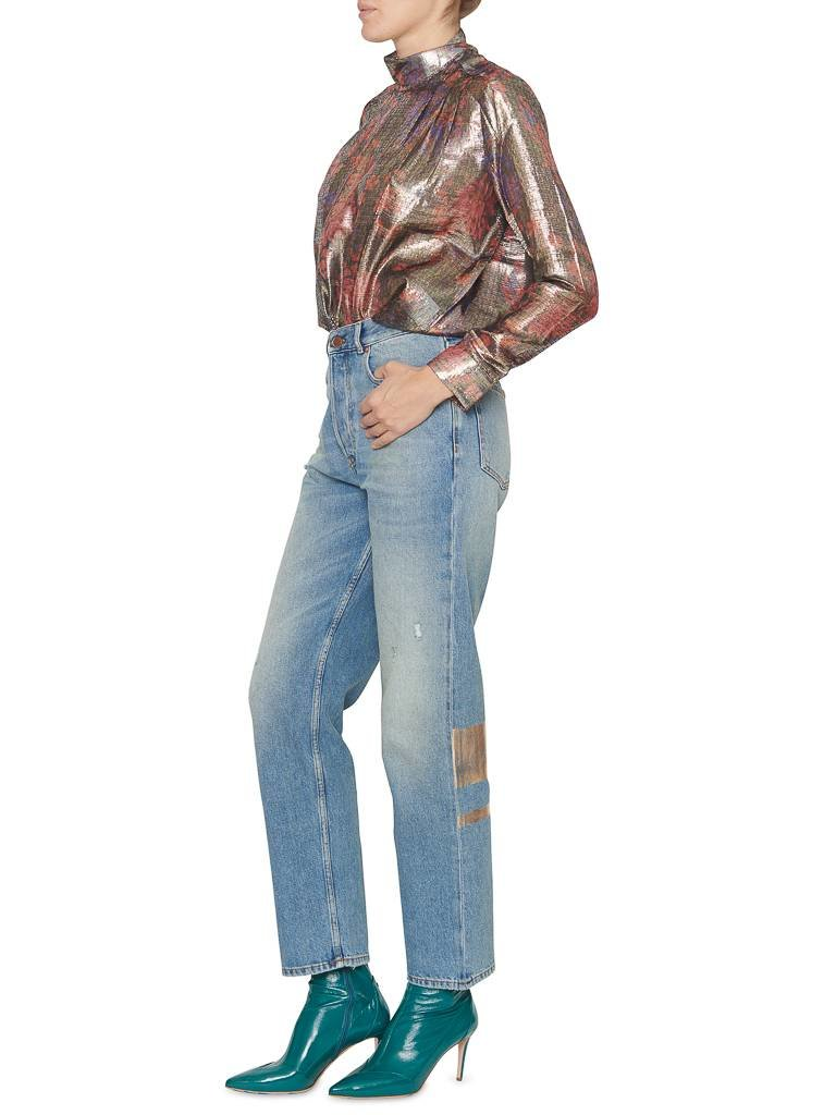 Pt05 PT05 Loose fit jeans with destroyed and pink gold details