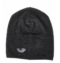 Chiara Ferragni Chiara Ferragni Flirting beanie hat with rhinestone gray