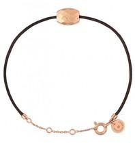 Morganne Bello Morganne Bello Pepite cord bracelet cushion rose gold