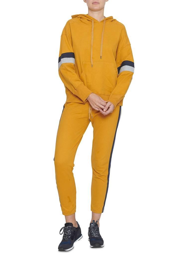 Sundry Sundry sweater met streep details en capuchon mosterdgeel