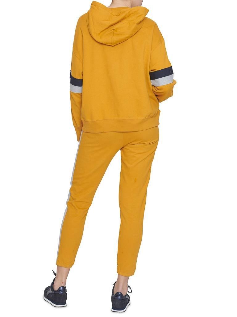 Sundry Diverse Pullover mit Streifen Details und Kapuze senfgelb