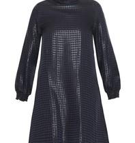 Valentine Gauthier dress Eileen bristol with dark blue print