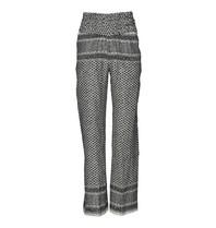 Cecilie Copenhagen pantalon met print zwart wit