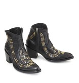 Mexicana Mexicana snake boots with studs and stars black