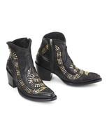 Mexicana Schlangenstiefel mit Nieten und Sternen schwarz