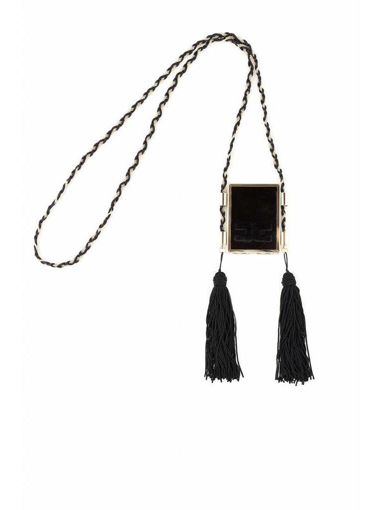 Elisabetta Franchi Elisabetta Franchi ketting met spiegel en tassels goud zwart
