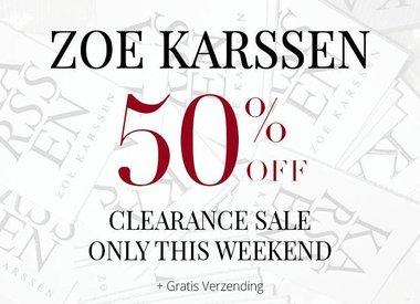 ZOE KARSSEN 50% OFF
