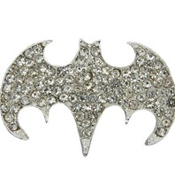 Godert.Me Godert.me Rhinestone batman badges zilver