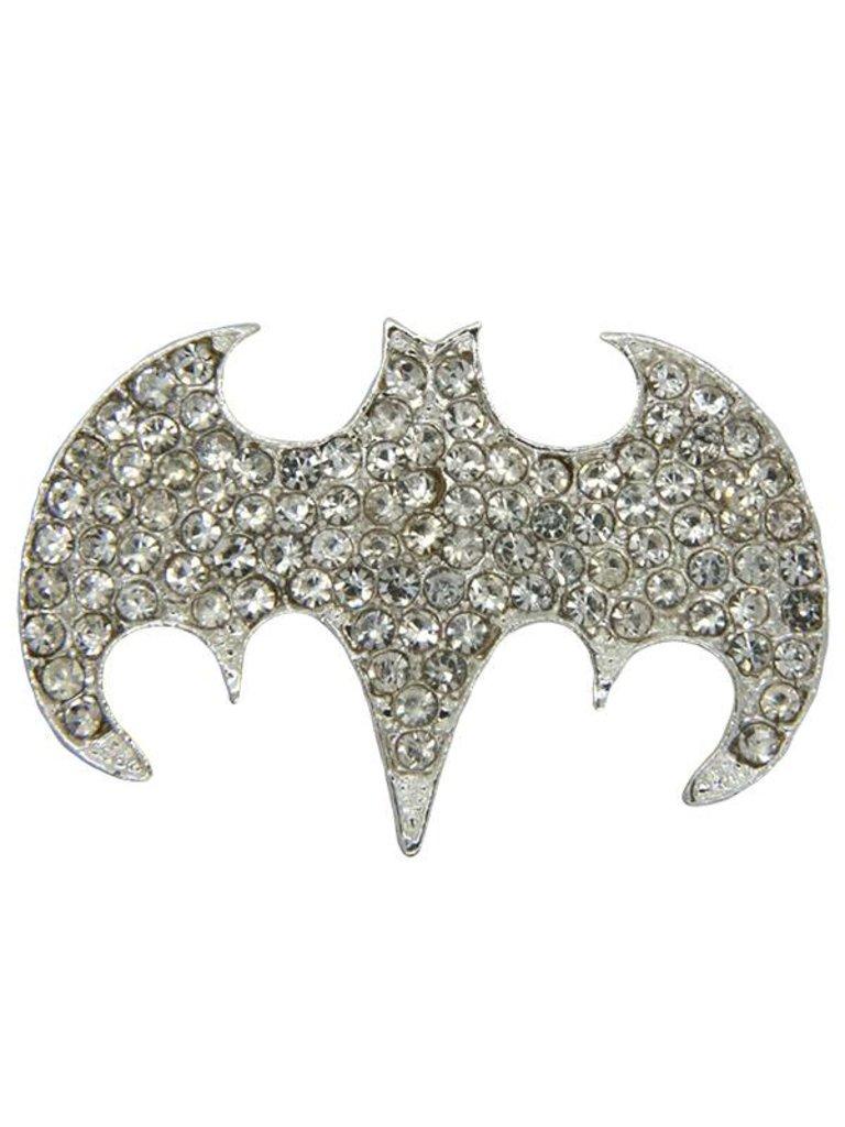 Godert.me Strass Batman Silber Abzeichen