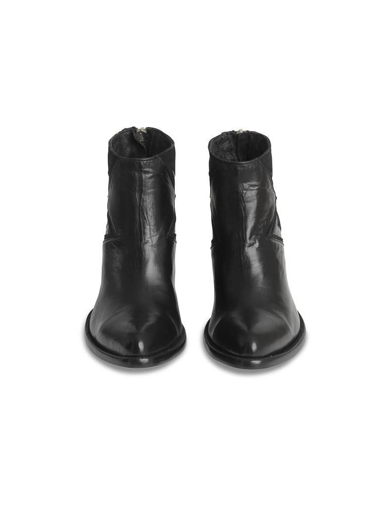 Mexicana Mexicana Black Baby Sierra laarzen met zilverkleurig detail zwart