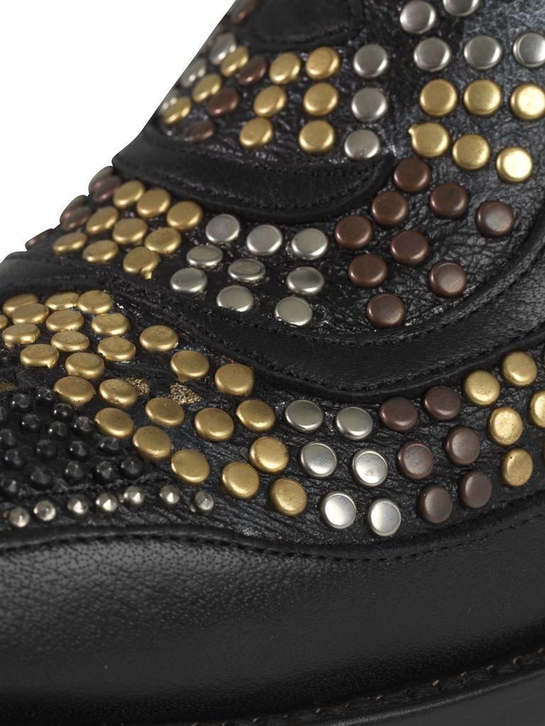 Mexicana snake laarzen met studs en sterren zwart VLVT