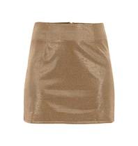 Runaway the Label Sparkle metallic skirt gold
