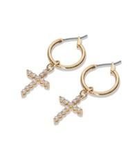 Vanessa Mooney Rita Cross gouden oorbellen