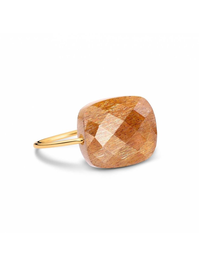 Morganne Bello Morganne Bello ring Sunstone steen beige goud