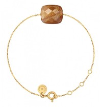 Morganne Bello Morganne Bello gouden armband met sunstone steen