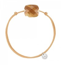 Morganne Bello Morganne Bello cord bracelet with sunstone stone beige