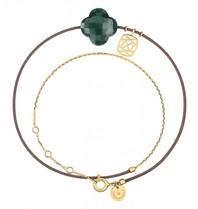 Morganne Bello Morganne Bello gold bracelet Liane with Aventurine stone