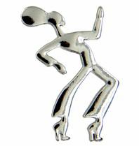 Godert.Me Godert.me dancing girl pin zilver