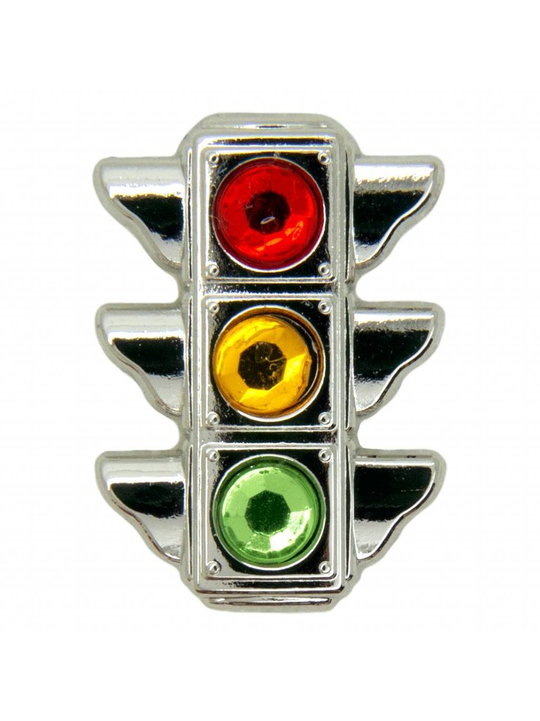 Godert.Me Godert.me traffic light pin zilver