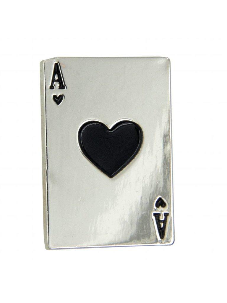 Godert.Me Godert.me heart card pin zilver