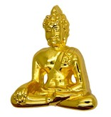Godert.Me Godert.me 3D Buddha pin goud