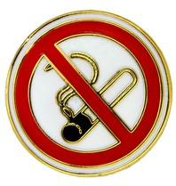 Godert.Me No Smoking pin goud