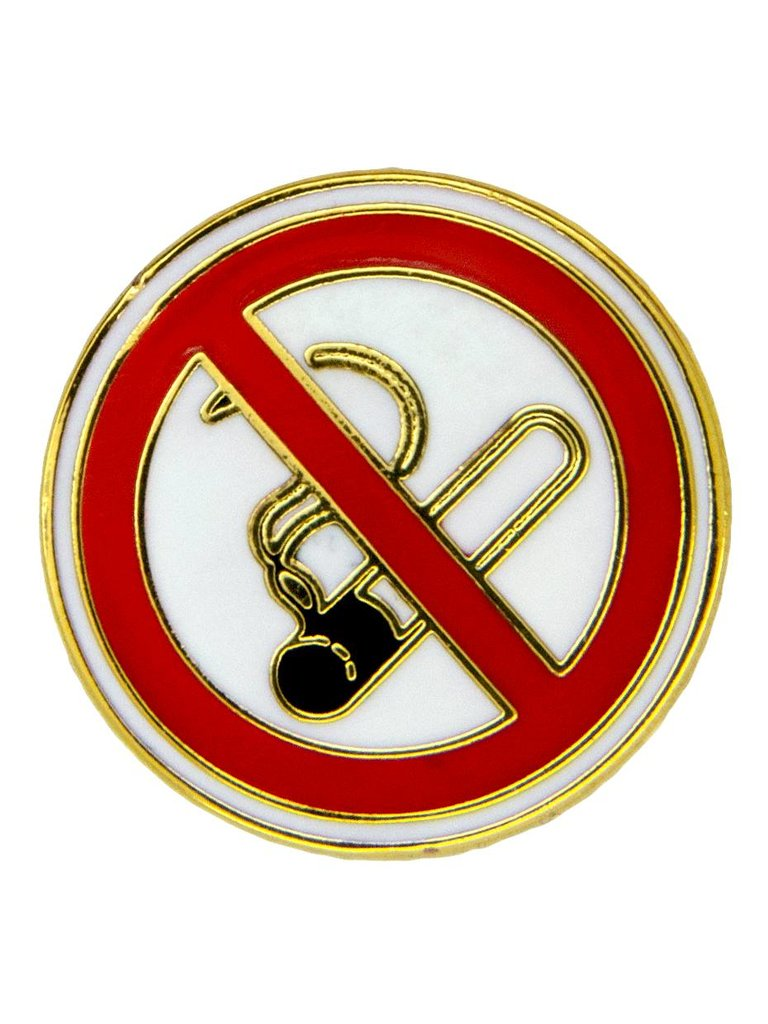 Godert.Me No Smoking Pin Gold