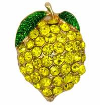 Godert.Me Godert.Me Rhinestone Lemon pin goud